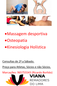Massagem desportiva cartaz novo