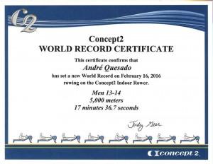 Record do Mundo conquistado André Quesado -VRL